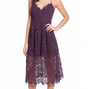 ASTR The Label Lace Silhouette Midi Dress